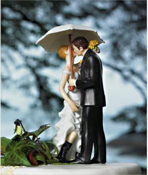Figuras de Novios Amor bajo la Lluvia