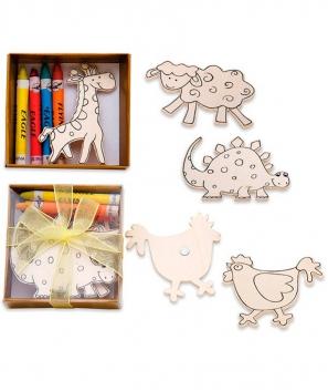 Maderas imantadas con diseños infantiles para pintar