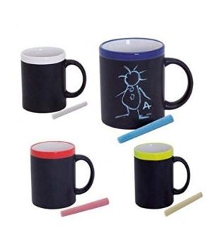 Taza Pizarra de cerámica con Tiza para Colorear