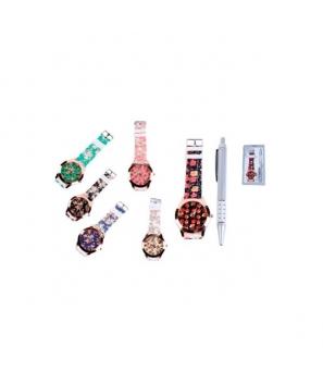 Reloj Floral en Caja de Regalo + Bolígrafo