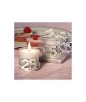 Vela 25º Aniversario en Caja de Regalo - Bodas de Plata