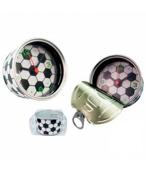 """Reloj de Aluminio """"Football"""" Presentado en Lata con Caja de Regalo"""