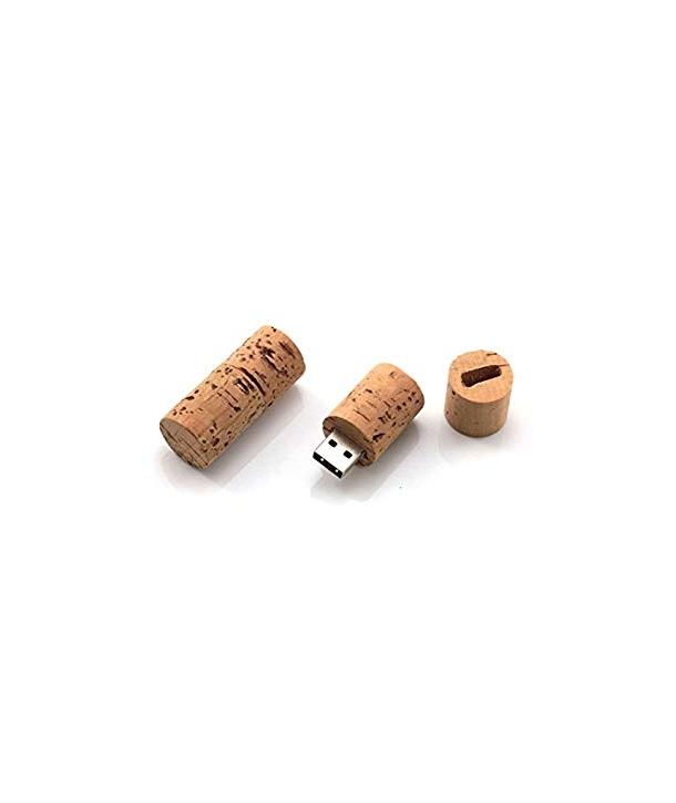 Memoria USB Bote Cristal Corcho Retro 8 GB