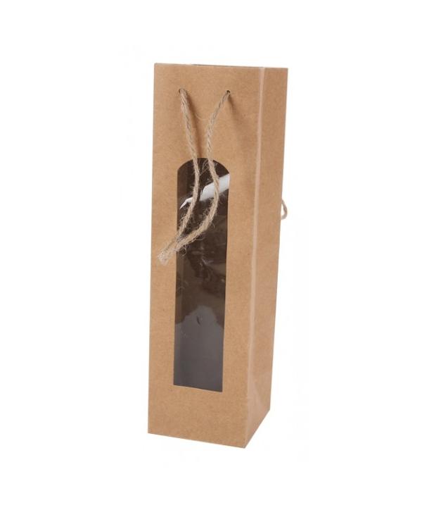 8e845772c Bolsas Kraft de papel para Botellas de Vino. Detalles de Bodas Baratas