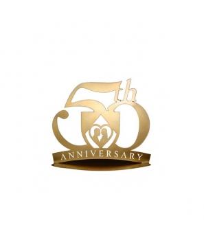 Figura Pastel Metálica Bodas de Oro - 50 Aniversario