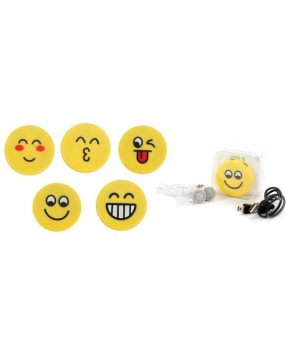 Mp3 Emoticonos En Caja de Regalo (Cable + Casco) - Detalles Infantiles