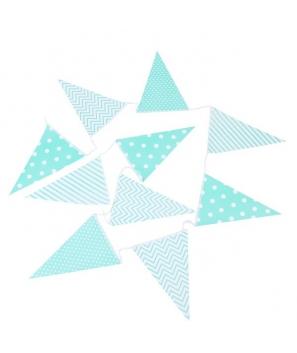 Guirnalda 10 Banderas Decorativas Eventos Papel Azules