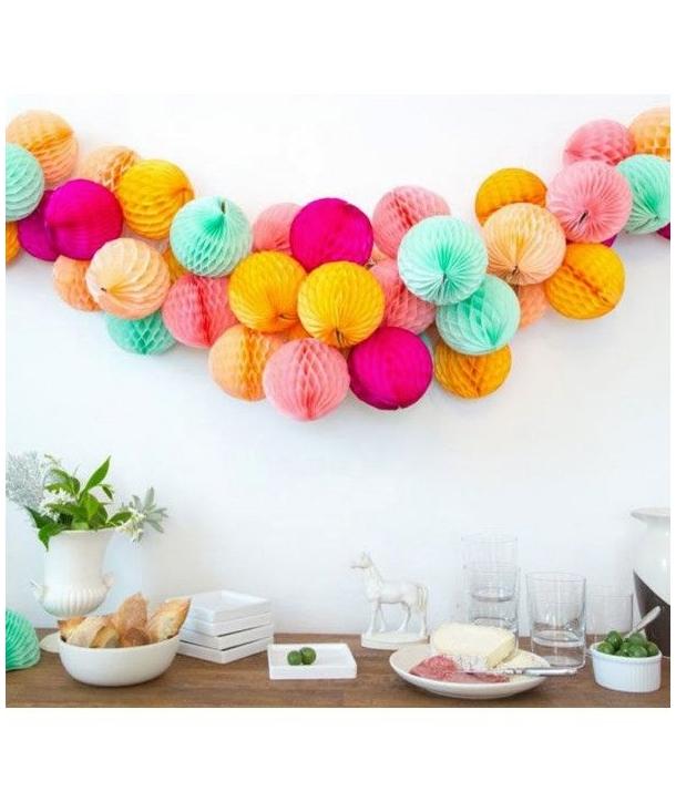 Pompones de colores Nido 20 Cm