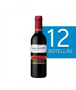 Lote de 12 Botellines Botellas Vino Don Luciano Tempranillo Cosecha 375ml