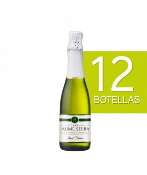 Lote de 12 Botellines Botellas Cava Jaume Serra Brut Nature 375ml