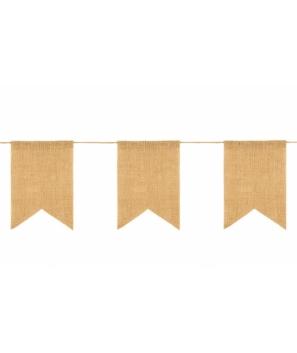Guirnalda 15 Banderas Yute - Ideal para Decorar Bodas y Fiestas
