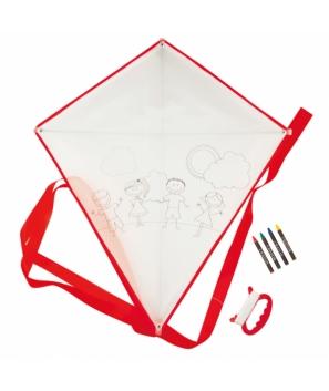 Cometa para colorear rojo - Regalos Detalles niños prácticos