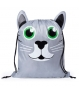 Mochilas poliester gatito