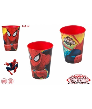 Vaso 260ml spiderman