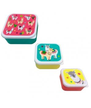 Set 3 Tapers Lunch Llama - Cumpleaños Comuniones Niños
