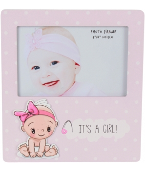 "Portafotos de Madera ""It's A Girl"""