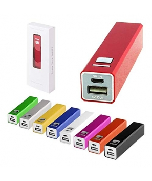 Power Bank 1200 mAh Micro USB En Caja de Regalo con Cable Incluido