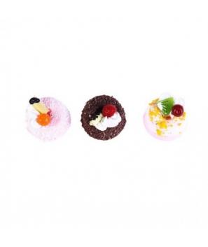 Imán frigorífico en forma de pastelito presentado en cajita de regalo