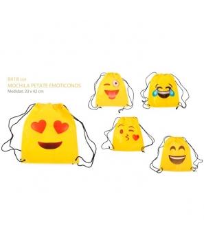 Lote de 20 Mochilas Petate Emoticonos - Regalos Bodas Comuniones