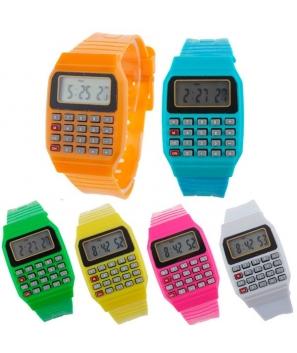 Lote de 20 Relojes Calculadoras Colores Surtidos