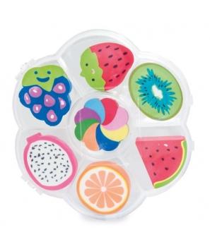 Set de Gomas de borrar con 7 modelos diferentes en su interior inspiradas en diferentes Frutas