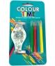 Reloj Led para colorear con 4 pinturas y con pilas incluidas