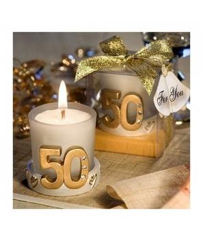 Vela 50º Aniversario en Caja de Regalo - Bodas de Oro