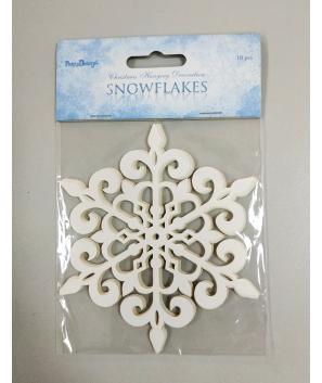 Cartulina decoración copo de Nieve 13 cm (10 UDS)