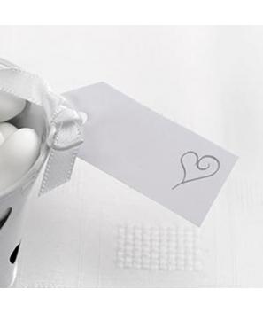 Identificador de equipaje corazón( 10 unid)