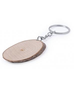 Llavero madera de haya Ovalado