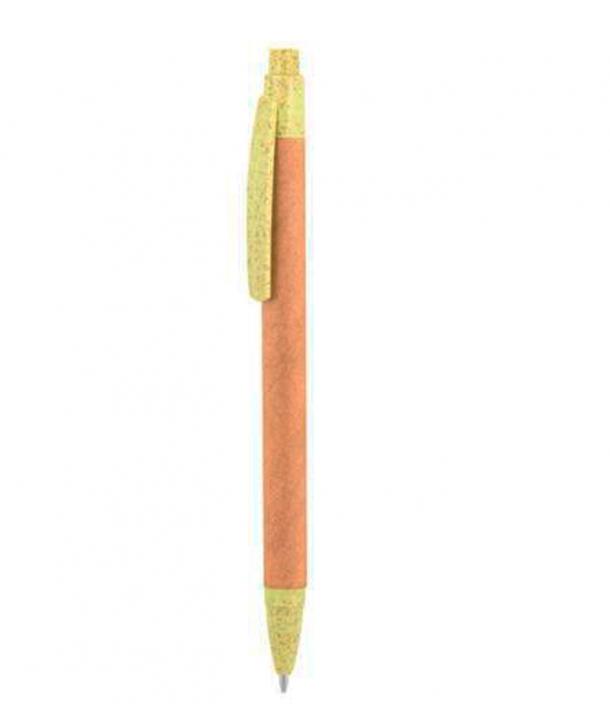 Bolígrafo de fibra de trigo y cartón Azul