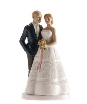 Figura pastel pareja boda.