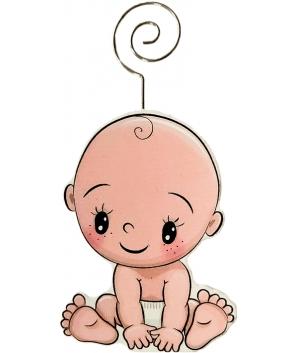 "Pinza Portafotos Madera""Baby"""