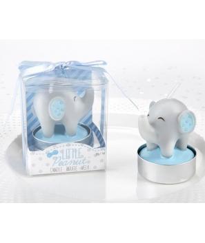 Vela Bautizo Elefante Azul en caja