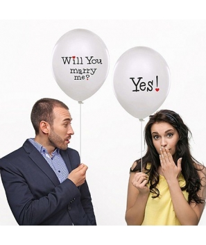 "Globos blancos "" Will You...?"" ( 6 unid)"