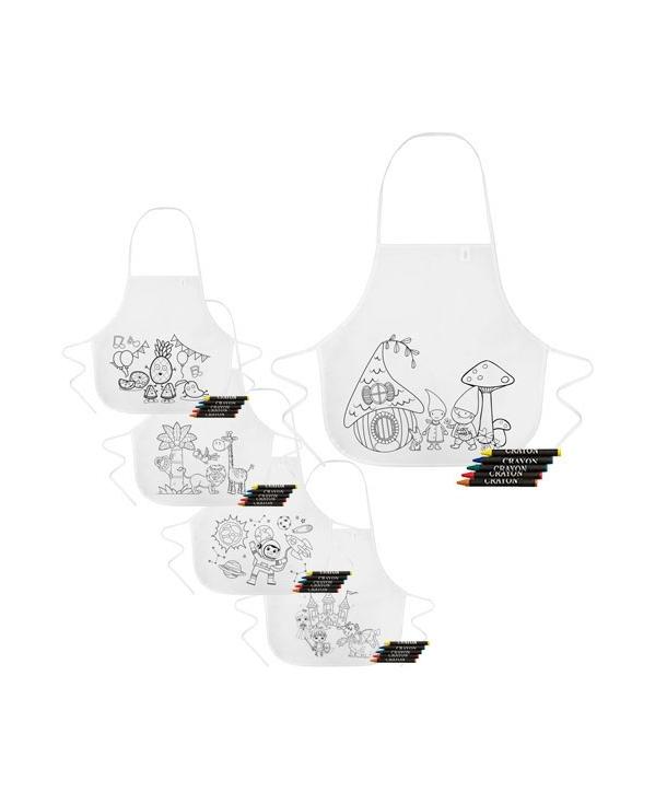 Lote 20 Delantales + Gorro de Cocina Infantil para Niños Colores