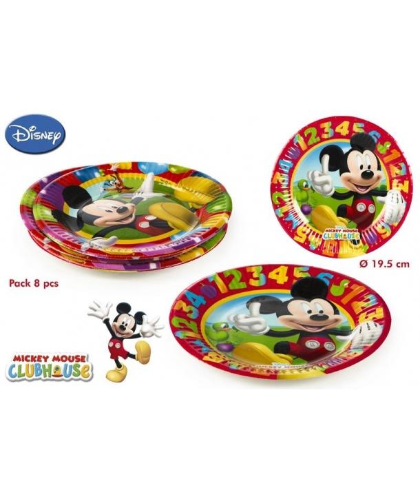 Pack 8 Platos Mickey