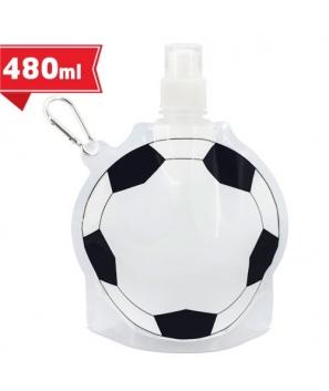 Práctico Bidón Forma Balón Fútbol Cantimplora Plegable + Mosquetón