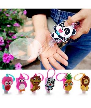 Llavero Bote Gel desinfectante de manos antivirus covid infantil niños originales