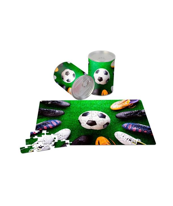 Puzzle en Lata Metálica de Regalo Fútbol