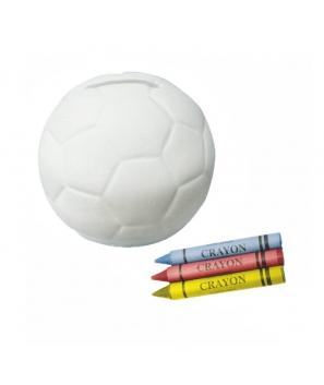Hucha Infantil Cerámica Balón Fútbol - Detalles Niños Cumpleaños Comuniones