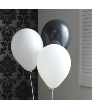 Set de globos BN decorativos (6 uds.)