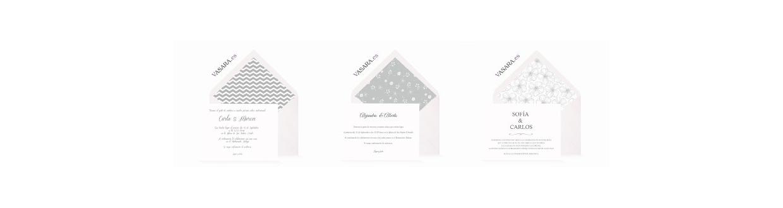 Invitaciones de boda grises