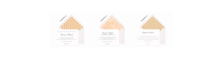 Invitaciones de boda naranjas