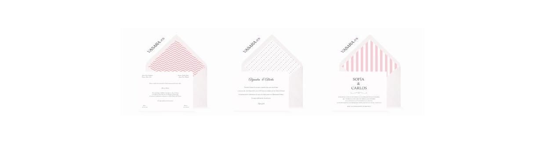 Invitaciones de boda rosas