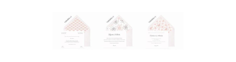 Invitaciones de boda salmón