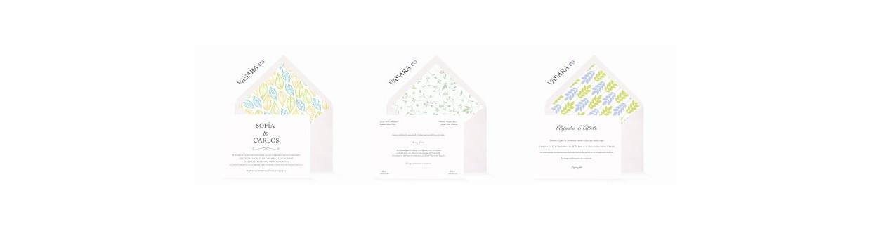 Invitaciones de boda verdes
