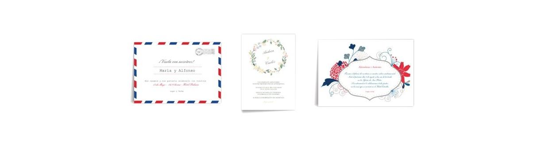 Invitaciones de boda sueltas