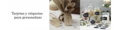 Tarjetas Kraft Bodas y etiquetas sin personalizar