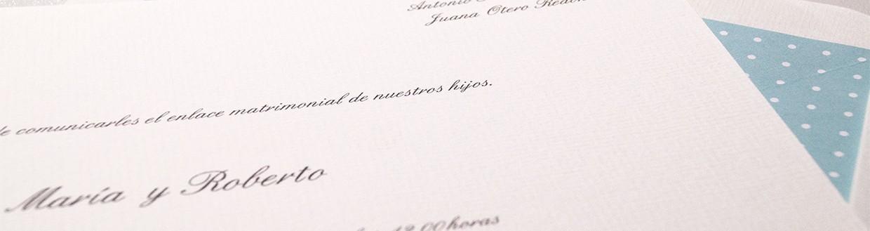 Invitaciones clásicas con sobres